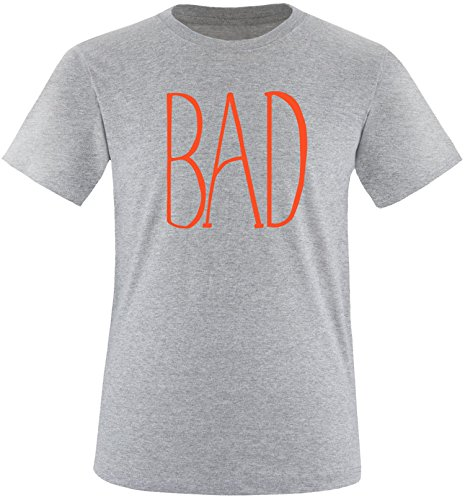 EZYshirt® BAD Herren Rundhals T-Shirt Grau/Orange