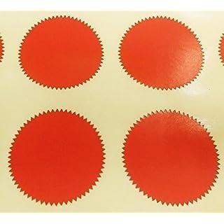 Audioprint Ltd. Pack 200-41mm Starburst Notary/Block/Zertifikat Siegel - Farben Code Aufkleber/Klebend Etikett - Wähle Sie Ihre Farbe S - Rot, 41mm Starbursts