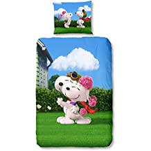 GOOD MORNING Juego De Funda Nórdica  Snoopy Multicolor 140 x 200/220 cm + 60 x 70 cm