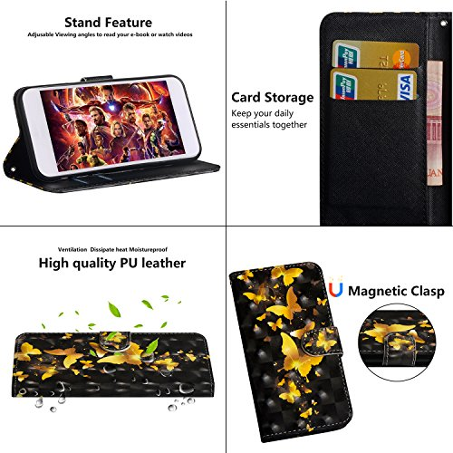 Funyye-Cinturino-da-Polso-Cover-per-iPhone-66SElegante-3D-Colorato-Pelle-Design-Sottile-Morbida-Portafoglio-Custodia-con-Supporto-Stand-Porta-Carte-Chiusura-Magnetica-Flip-Protettivo-Sottile-CustodiaU