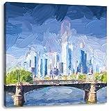 Pixxprint schöne Skyline von Frankfurt am Main, Format: