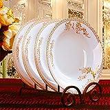 Servizio da tavola in ceramica Bone China per hotel, ristoranti, 8 pollici, disco in porcellana Bone China, forno a microonde Swan Lake - Piatti profondi, 20 cm, 6 confezioni