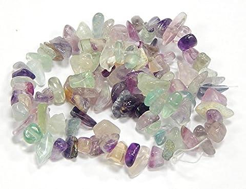 Fluorite Perlen Edelstein Halbedelstein Beads Gem New 120 Stk Chips 8mm G124