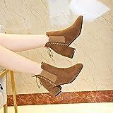MYMYG Damen Boots Ankle Boots mit Halbhohe Bl...Vergleich