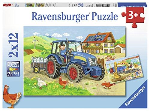 Ravensburger Puzzle 07616 Baustelle und Bauernhof Preisvergleich