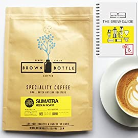 Medium Roast Sumatra Ground Coffee or Whole Beans | Perfect for Espresso Coffee Cafetiere Filter or Moka Pot | 100% Arabica Beans Speciality Coffee | RFA | Fair Trade Organic