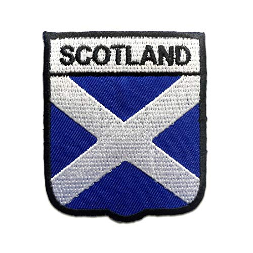 Parches - Escocia bandera - blanco - 7