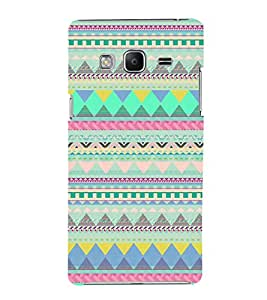 FUSON Geometric Print Ethnic Boho 3D Hard Polycarbonate Designer Back Case Cover for Samsung Galaxy Z3 Tizen :: Samsung Z3 Corporate Edition