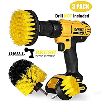 swonuk Drill Brush, 3pcs Taladro Cepillos Accesorio 2″ 3.5″ 4″ Power Scrubing Auto Cepillo para Coche, Alfombra, Cuarto de baño, Suelo de Madera, lavadero, Cocina