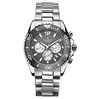 Accurist Men's Quartz Watch with Silver Dial Chronograph Display and Silver Stainless Steel Bracelet 7207