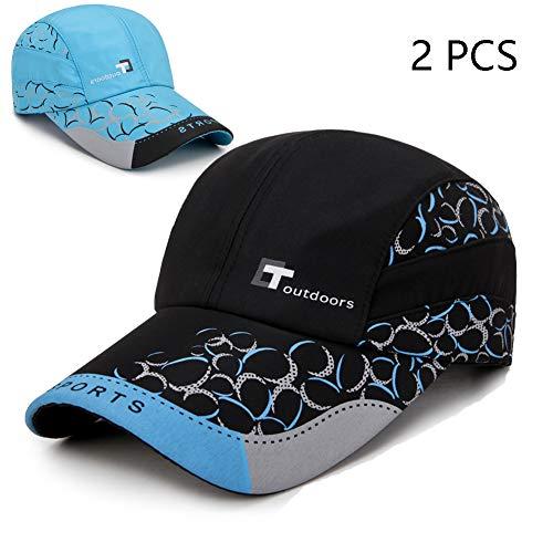 FZXHJ 2019 Männer Hüte, Sommer UV Baseballmützen, Frauen-Sonnenschutz Golf Tennis-Hut, Außen Shade Ente Zunge Cap (2ST),3