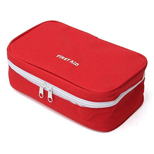 Erste Hilfe Set,Tragbar leer Erste-Hilfe-Koffer First Aid Kit Gewebe Medizintasche, Reiseapotheke Tasche, Betreuertasche Tasche für Reisen Home Workplace (Rot) - Rot-gewebe Im Freien
