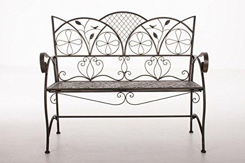 CLP Metall-Gartenbank RIEF, Landhausstil, lackiertes Eisen, ca. 110 x 50 cm, Design nostalgisch antik Bronze - 2