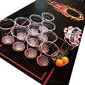 Lifestyle 2.0 Kit Beer Pong de Luxe – Tapis indéchirable et étanche de 180 x 60 cm – Grands gobelets – 4 balles de bière pong – Jeu à boire NOUVEAU!