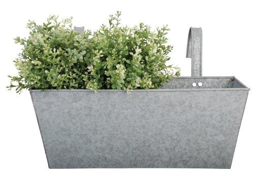 Esschert Design 40x 24,9x 24,2cm Old Zink Balkon Blumentopf