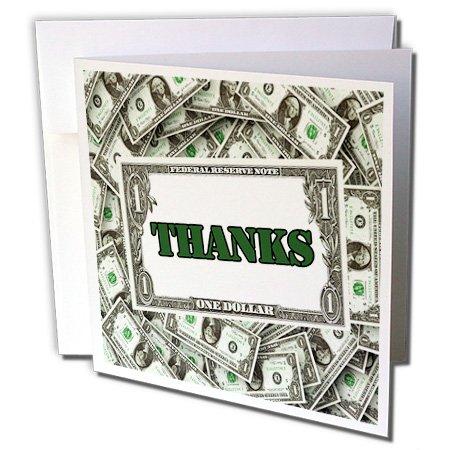 USA Währung Dollar Rechnungen mit dank-Grußkarten, 15,2x 15,2cm, Set 12(GC 164720_ 2) -