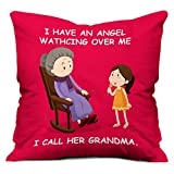Gift for Mom Mothers Day Birthday Anniversary Angel Grandma 12X12 Red Small Cushion with Filler Everyday Home Decor Gifting
