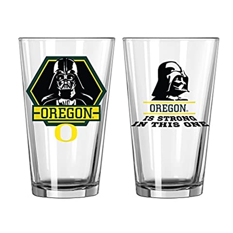 NCAA Oregon Ducks Star Wars Pint Glass, 16-ounce, 2-Pack