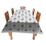 CASA FURNISHING 6 Seater PVC Table Cover; 3D IMPACT; 60x90 Inches DINING TABLE COVER 6 SEATER 3D IMPACT [3D-4]