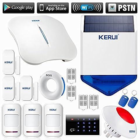 KERUI - W1 WIFI Alarme Appel Alerte Sécurité Système d'alarme
