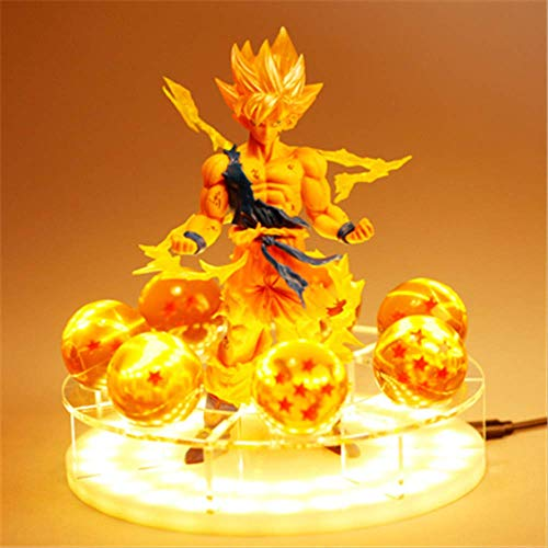 Dragon Ball Z Son Goku Led Lámpara De Luz Espíritu