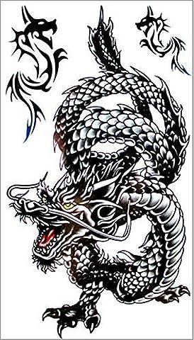 SHIHAN Black Dragon Temporary Tattoo Body Art Flash Tattoo Stickers 17*10cm Waterproof Tatoo by Shihan
