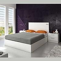 Pack de cabezal y 2 mesitas en color blanco de estilo moderno para dormitorio o habitacion de matrimonio camas de 150 cm FABRICACION NACIONAL