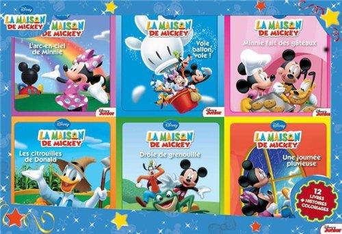 Coffret La maison de Mickey : 12 livres, histoires + coloriages