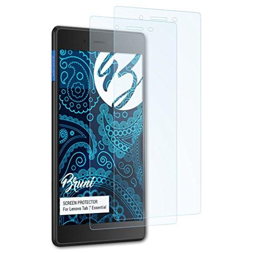 Bruni Schutzfolie für Lenovo Tab 7 Essential Folie - 2 x glasklare Displayschutzfolie