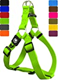 DDOXX Hundegeschirr Step-In Premium Nylon | für große, mittelgroße, Mittlere & Kleine Hunde | Geschirr Hund | Katze | Brustgeschirr | Softgeschirr | Zubehör | Grün, L - 2,5 x 65-99 cm