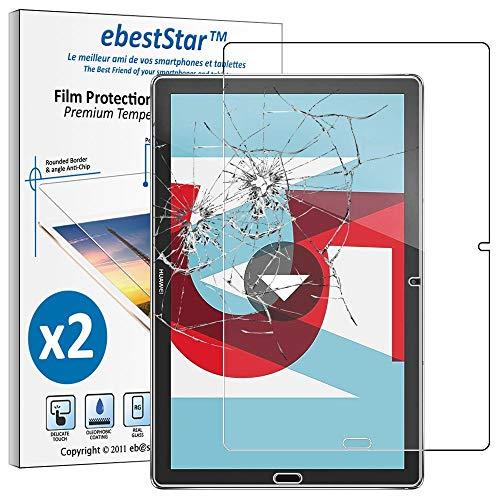 ebestStar - kompatibel Huawei MediaPad M5 10.8 Panzerglas [x2 Pack] Tablet 10.8 Schutzfolie Glas, Schutzglas Bildschirmschutz, Bildschirmschutzfolie 9H gehärtes Glas [M5 10.8: 258.7 x 171.8 x 7.3mm, 10.8