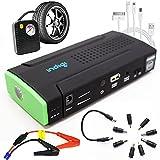 Batería externa Indigi multi-función de coche arranque plano hemiedría compresor de bomba de aire - carga para varios modelos de móviles, ipad, PSP, MP3, PDA, portátiles GPS, cámaras.