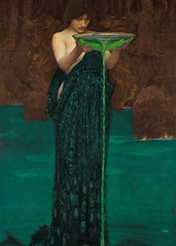 JOHN WILLIAM WATERHOUSE Circe Invidiosa, detail c1892 250gsm Gloss Art Card A3 Reproduction Poster by World of Art