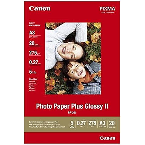 Canon PP-201 - Papel fotográfico A3, 20 Hojas