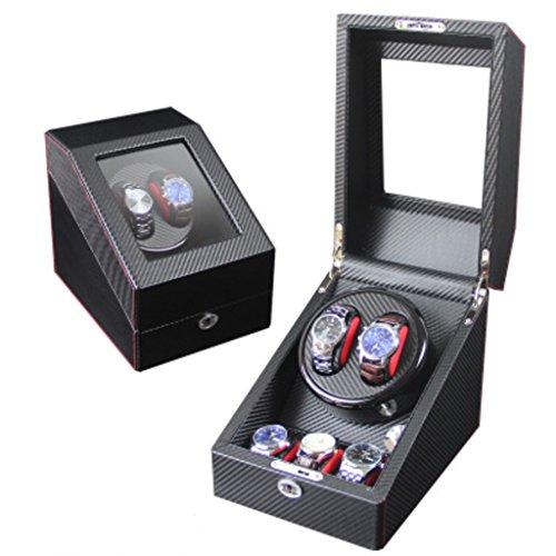 Watch Winder Uhr Winder Full automatische mechanische Uhr Box Motor rotierenden Box oberen String Box Schütteln Tabelle. (Farbe : 2+3B) ()