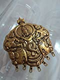 #5: 1 Piece LORD KRISHNA (Large Size 84*69mm - LIMITED STOCK AVAILABLE) Antique Gold plated Alloy Charm Pendant metal Jewelry Findings for DIY Jewelry Making - High Quality Vintage LOOK…