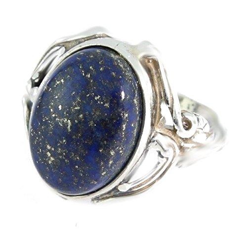 Ring mit Lapis Lazuli 42-12 - Schmuck Silbern aus Lapis Lazuli - Alle Größen und verschiedene Steine - ARTIPOL