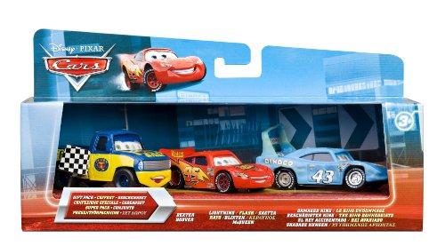 �Vorteil Miniatur–3Polizeifahrzeugen Cars–Dexter Hoover/Checkered, Flag/Race Damaged King (Checkered Race Flags)