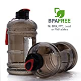 2.2 Litre Water Bottle BPA Free Large Sports Tank Jug Container Hydrate Drinking Bottle by Shineshin Resin Fitness BPA Free Leakproof with Easy Carry Handle for Bodybuilding Outdoor Sports Gym Workout Hiking & Office