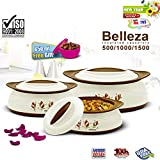 #8: BMS GoodDay Belleza Insulated Hot Pot Casserole Gift Set, 3 Pcs ,With FREE 650ML Bowl