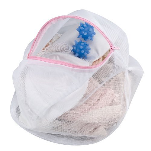 Household Essentials Mesh Lingerie Wash Bag with 2 Washer Balls by Hosuehold Essentials