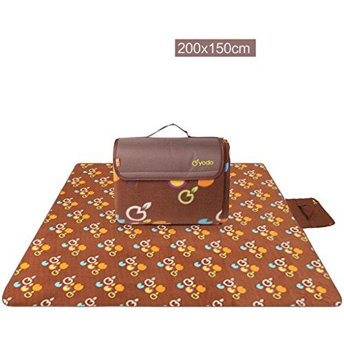 wysm Panno morbido 200 * 150 centimetri panno morbido tessuto ispessimento tappetino esterno per la crema mat ( Colore : Marrone ) Marrone