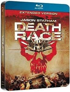 DEATH RACE EXTENDED VERSION BLU RAY STEELBOOK ERSTAUFLAGE MIT PRÄGUNG IM COVER