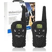 Midland G5 XT H&W - Pareja walkie talkies con accesorios, color negro