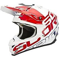 Scorpion VX-15 EVO AIR GRID MX-Helm, Farbe weiss-rot-blau, Größe L (59/60)