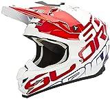 Scorpion VX-15 EVO AIR GRID MX-Helm, Farbe weiss-rot-blau, Größe S (55/56)