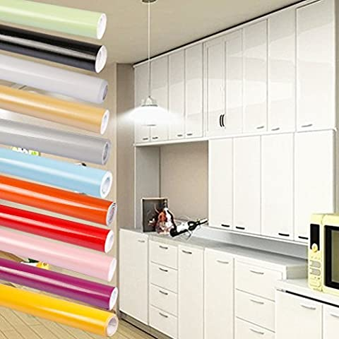 Bon Enjoy®0.61*5M Papier Peint Auto-Adhésif Stickers de Cabinet en PVC étanche Autocollant Papier peint de Cuisine pour Meubles / Cuisine / Salle de bains