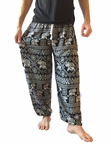 Hombre Baggy Impreso harén pantalones