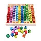 Zerodis Holz Mathematik Spielzeug Einmaleins 10x10 Multiplikationstabelle Pädagogisches Lernspielzeug Früherziehung für Kinder Kleinkinder