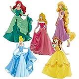 Bullyland 12040 Deluxe Set Princesas Disney 2016 Rapunzel, Cenicienta, Ariel, Bella y Aurora